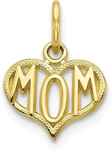 10K Yellow Gold Mom Charm