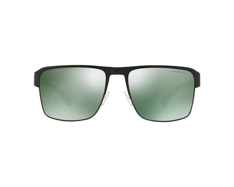 Amazon.com: emporio armani EA 2066 negro/verde 57/18/140 ...