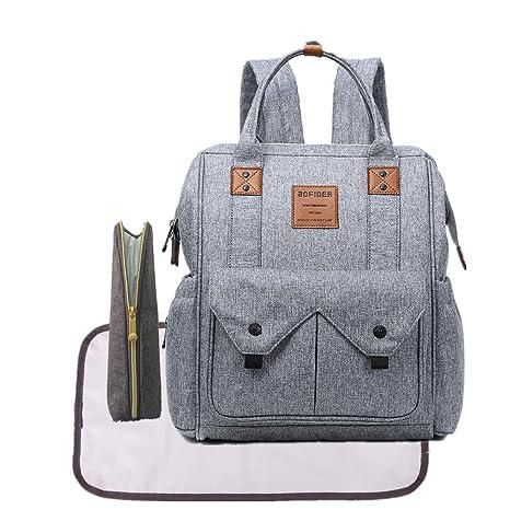 Gran capacidad bebé pañal bolsa mochila, multifunción pañal bolsa para/correas para el carrito
