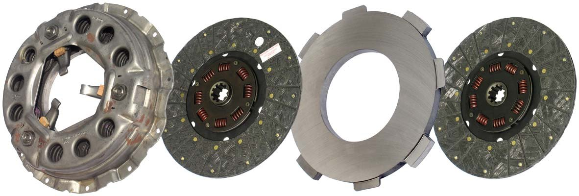 IATCO LP1940-134-IAT 330mm x 1-1/2'' Stamped Steel Clutch (Two-Plate, Push-Type, Organic / 8-Spring, 2000 Plate Load / 525 Torque)