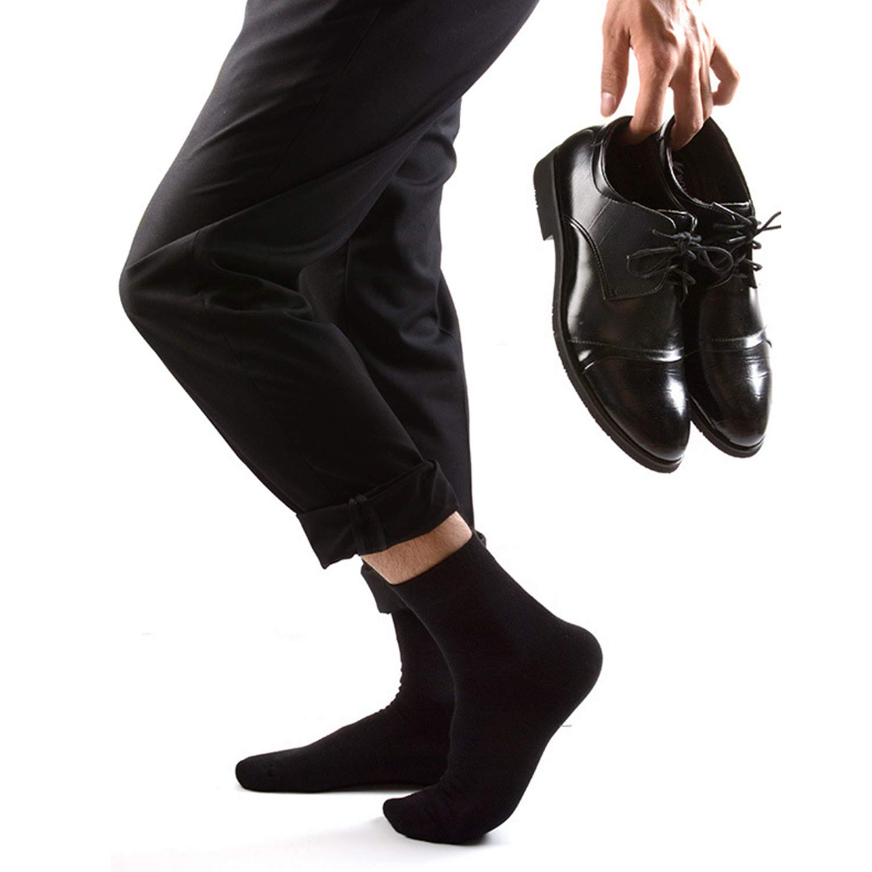 M MOACC Men\'s Breathable Combed Cotton Cushion Dress Half Crew Socks,6 Pair #80402