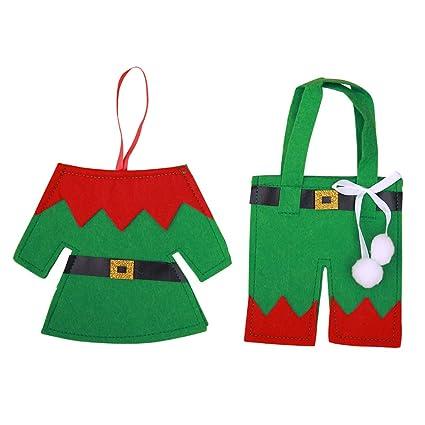 Elf Christmas Gift Bags.Amazon Com Ea Stone 2pcs Christmas Gift Bags Christmas Elf