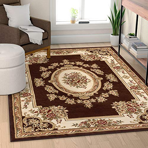 Well Woven 36375 Timeless Le Petit Palais Traditional Medallion Brown Area Rug 5'3