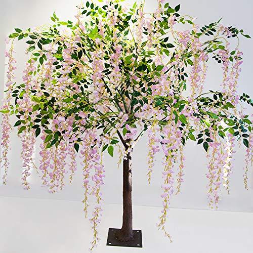 D/écoration de Mariage en Soie Arbre de Wisteria Rose 170 cm