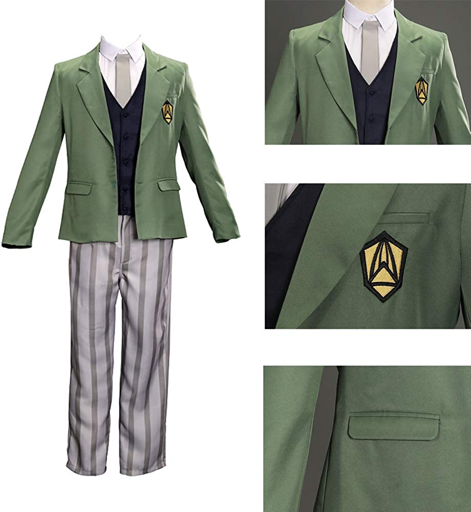 DMBJFun Anime Beastars Costume Louis Cosplay Outfit Suit Jacket Coat Trousers Halloween Clothes with Belt