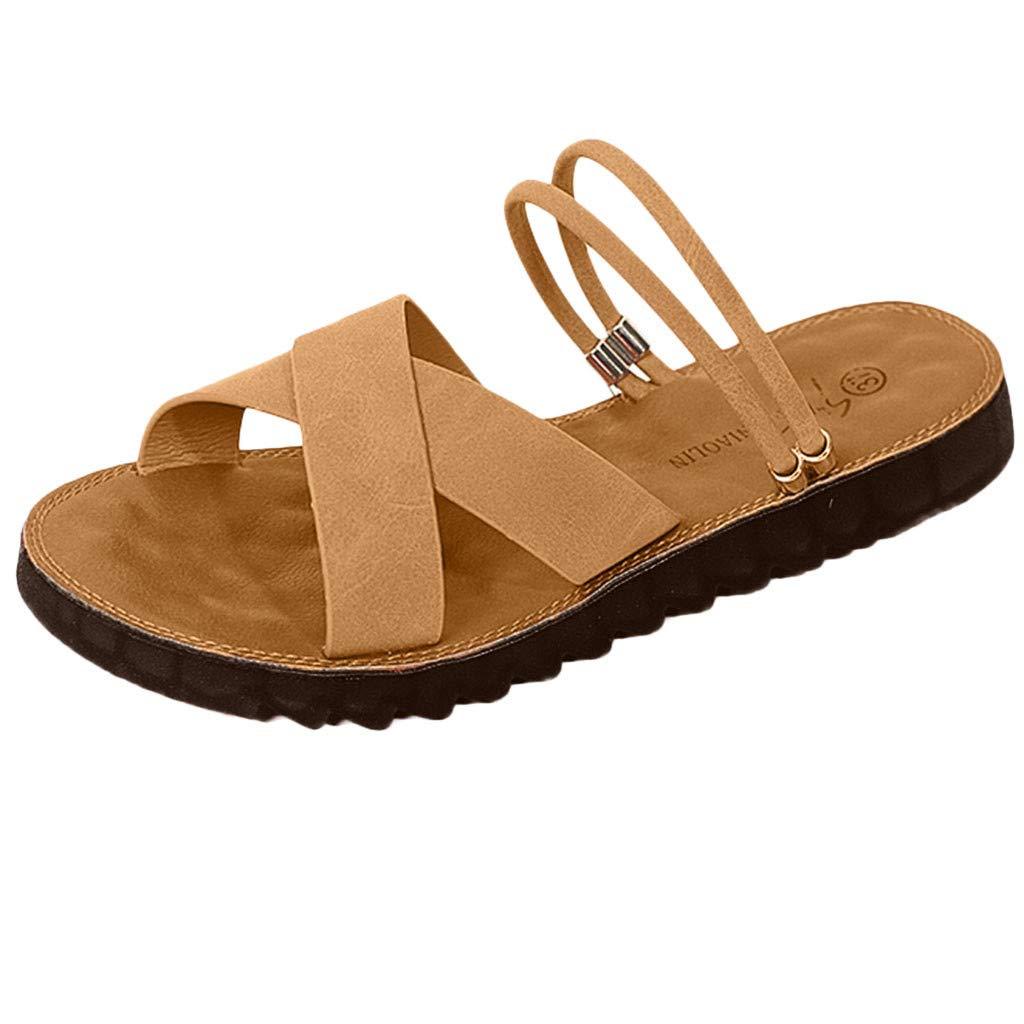 Sandalias de Vestir Plano para Mujer Verano Primavera 2019 PAOLIAN Calzado Chanclas Fiesta Playa Elegantes Tallas Grandes Zapatos Piel sint/ético Dama Escuela 35-43 EU