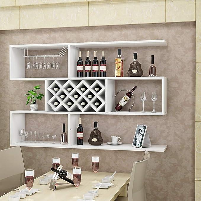 Amazon.com: LPZ Wine Shelf Display Shelf Wall Mount Wooden ...