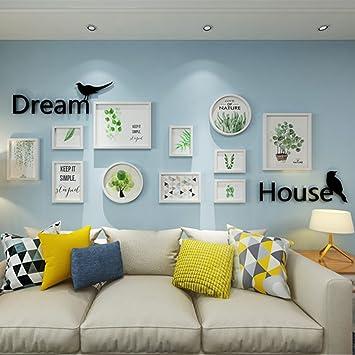 GWELL 11er Set Bilderrahmen Fotorahmen Mit Acrylglas Wohnzimmer  Kinderzimmer Dekoration Wanddeko Bilderwand Wandsticker Weiß