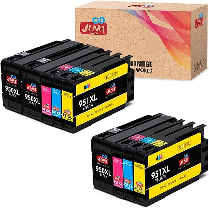 JIMIGO Compatible 950XL 951XL Ink Cartridges Replacement for HP 950 951 XL Ink, Replacement for HP Officejet Pro 8610 8600 8620 8630 8100 8625 8615 8640 8660 251dw 276dw 271dw Printer [9-Pack]