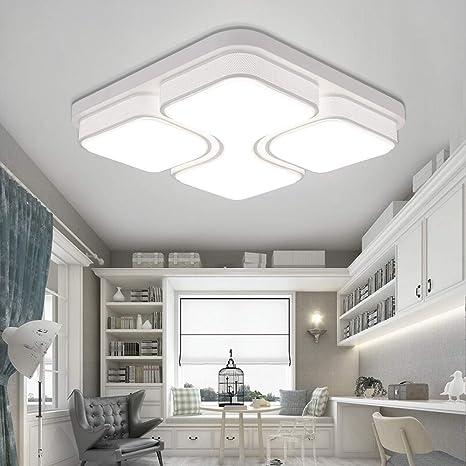 MYHOO 48W LED Blanco frío Luz de techo Diseño de moda moderna plafón,Lámpara de Bajo Consumo Techo para Dormitorio,Cocina,oficina,Lámpara de sala ...
