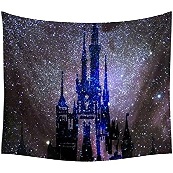 waylongplus Castle in The Night Psychedelic Wall Hanging Tapestry Large Size Bohemian Tapestries (59