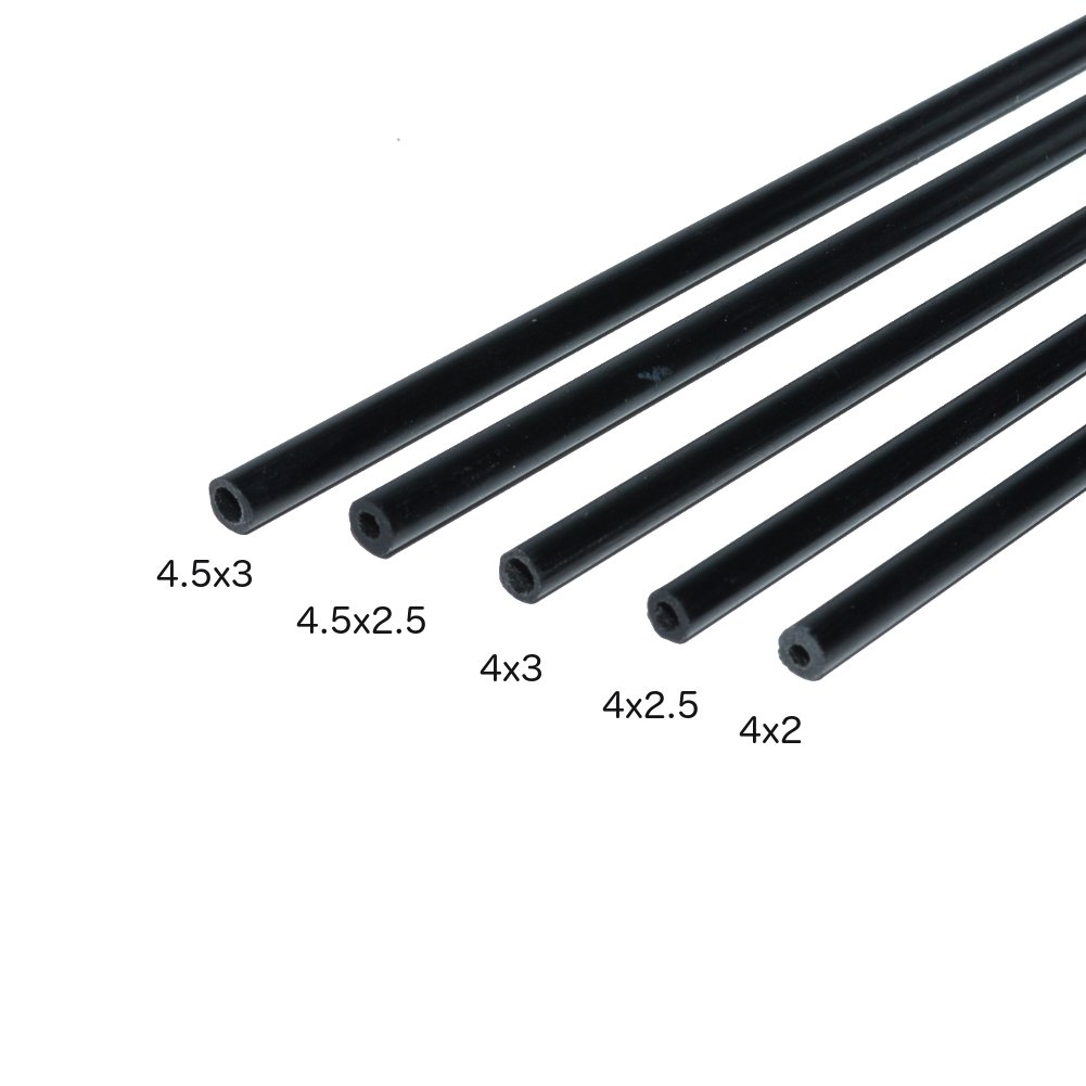 Carbon Fiber Round Tubes 4mm x 2.5mm 1000mm for Kites, RC Airplanes, and More! Includes 5 Tubes.