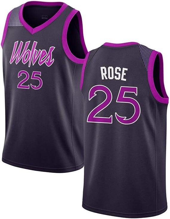 Oquta Derrick Rose, Minnesota Timberwolves # 25 Camiseta de ...