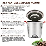 Premium Stainless Steel Reusable K Cup for Keurig 2.0,Refillable Coffee Filter Compatible With Keurig Brewers 1.0 & 2.0 - for K200, K300, K400, K500 Series(Silver)