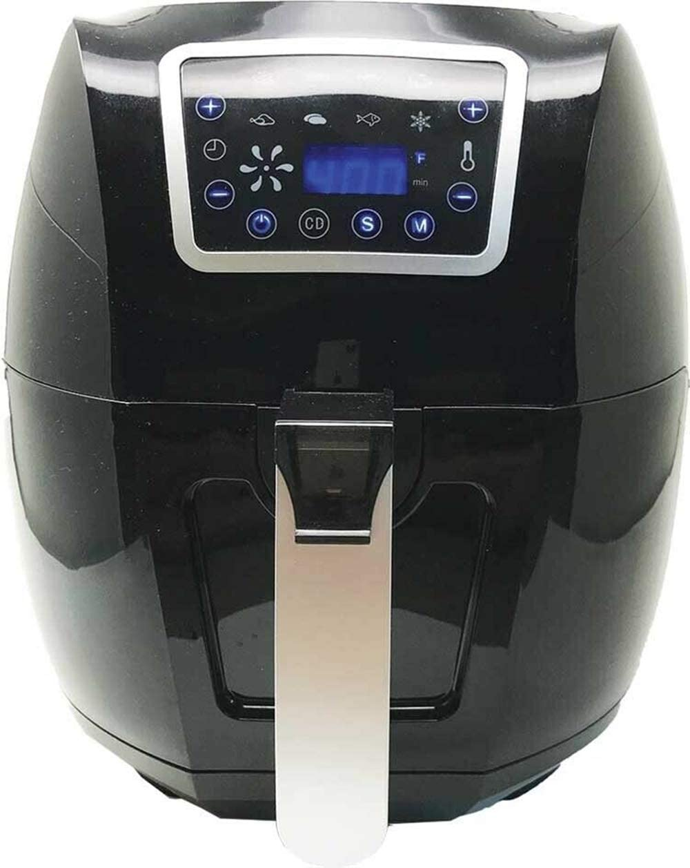Air fryer electric 6 qt 1700w digital timer temp control 8 presets oil less
