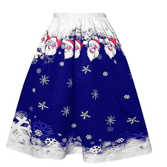 beautyjourney Faldas de Navidad para Mujer Minifalda Informal con ...