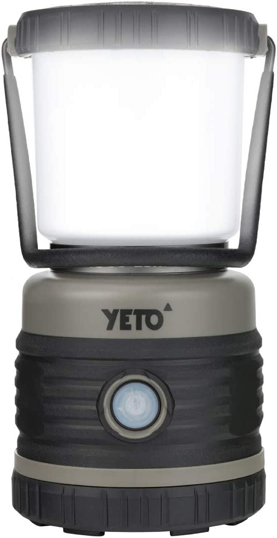 YETO Super Bright 1000 Lumen LED Camping Lantern, Outdoor Battery Operated Camp Lantern, 4 Light Modes, for Backpacking, Hiking, Fishing, Emergency, Roadside Use,Hurricane,Home,14.1 oz
