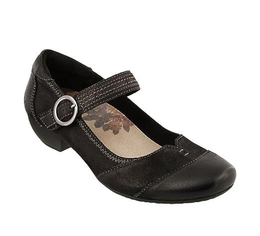 Taos Footwear Women's Virtue Black Oiled Mary Jane 6 B (M) US