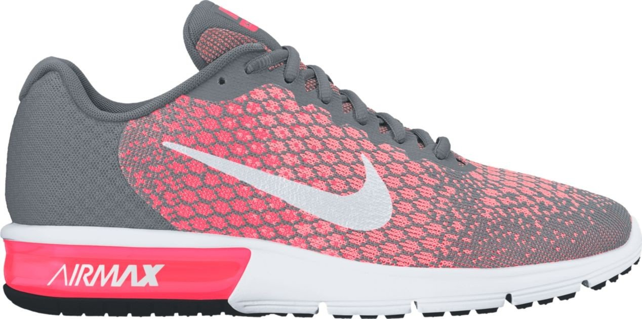 NIKE Men's Air Max Sequent 2 Running Shoe B01H4XAYKG 12 B(M) US|Cool Grey/White-hot Punch