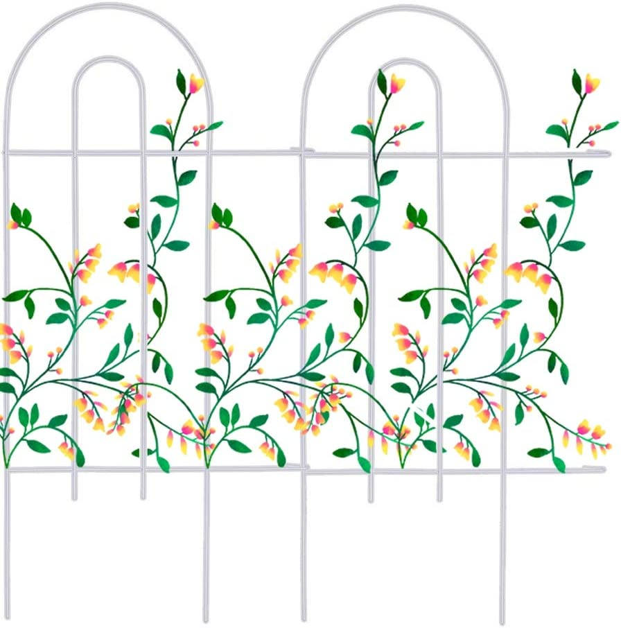 Mr.Garden Edging Fence Metal Decorative Garden Barrier Panels 20PACK 15