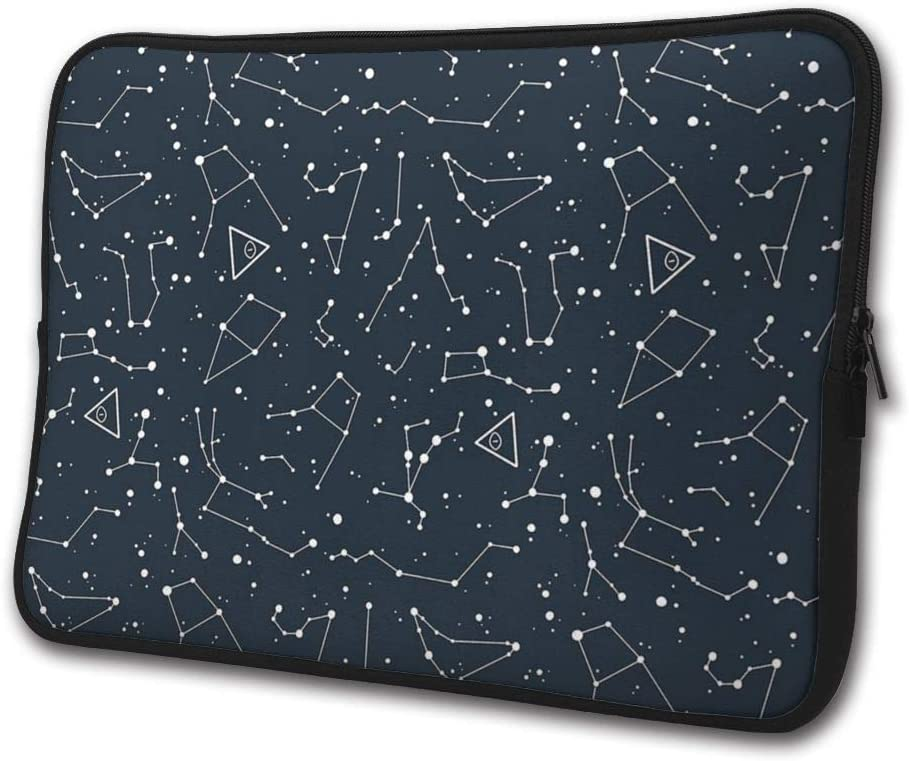 SWEET-YZ Laptop Sleeve Case Space Cosmic Constellation Notebook Computer Cover Bag Compatible 13-15 Inch Laptop