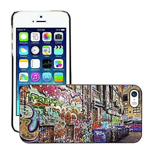 Premio Sottile Slim Cassa Custodia Case Cover Shell // V00002374 Graffiti // Apple iPhone 5 5S 5G