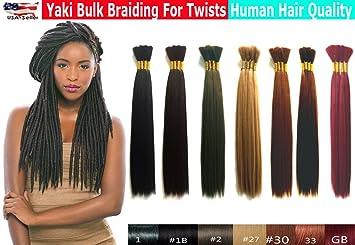 Yaki Bulk Braiding Hair, Human Hair Quality,