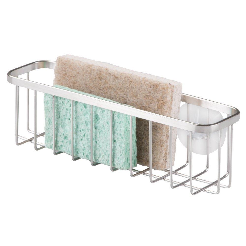 Amazon.com: MetroDecor mDesign Kitchen Sink Suction Sponge and ...