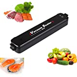 Vensens Vacuum Sealer Machine Automatic Mini Portable Vacuum Air Sealing System Food Saver / Starter Kit | Compact Design | Dual Capacitance Design Including 15pcs Sealing Bags