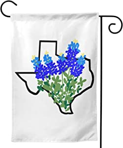 ClothingUSA Texas State Bluebonnet I Love Garden Flag, Decorative House Flags for Home Lawn Yard Indoor Outdoor Decor