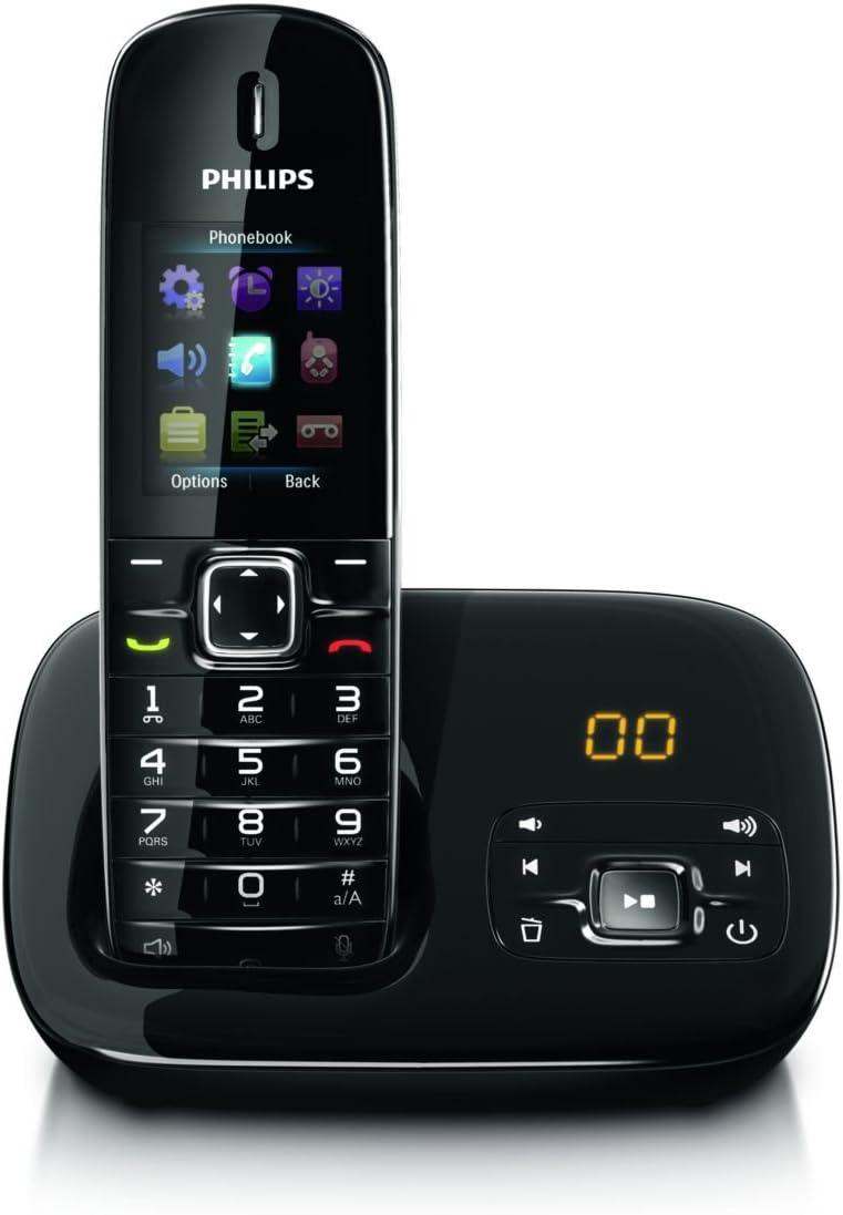 Philips BeNear CD6851B/DE - Teléfono (Teléfono DECT, Altavoz, 200 entradas, Identificador de Llamadas, Negro): Amazon.es: Electrónica
