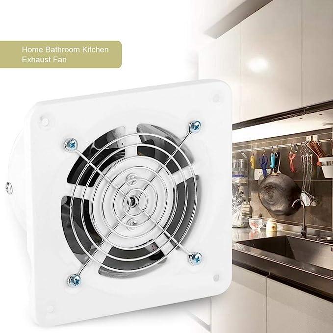 Hyuduo Ventilatore di Scarico Montato a Parete a Basso Rumore da 4 Pollici Bagno Domestico Cucina Garage Ventilazione Ventilazione 25W 220V
