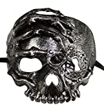 KAYSO INC The Caribbean Pirate Full Face Skull Mask (Vintage Silver)