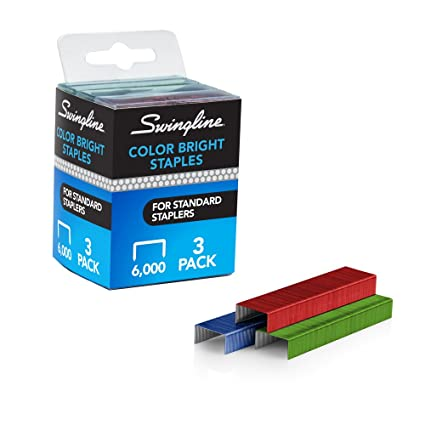 Swingline Colored Staples Standard 1 4quot Length Color Bright