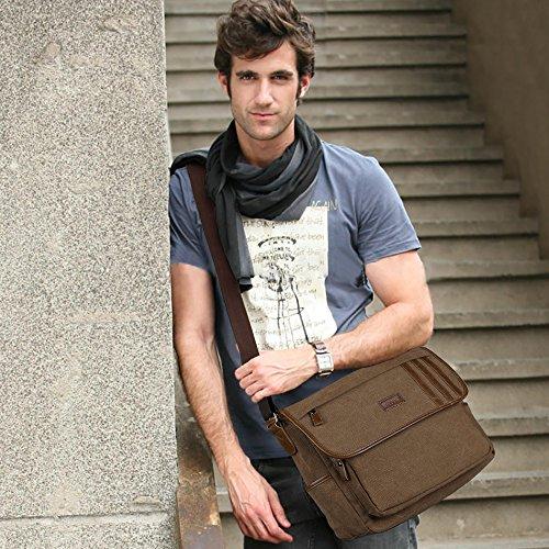 S-ZONE S-ZONE D04V844C - Bolso al hombro para hombre marrón café café