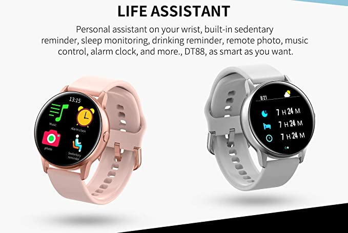 Amazon.com: NO.1 DT 28 Smart Watch IP68 Waterproof 1.54 ...