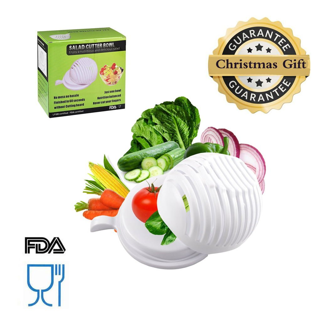 Amazon.com | Aitsite 60 Seconds Salad Cutter Bowl Salad Cutter ...