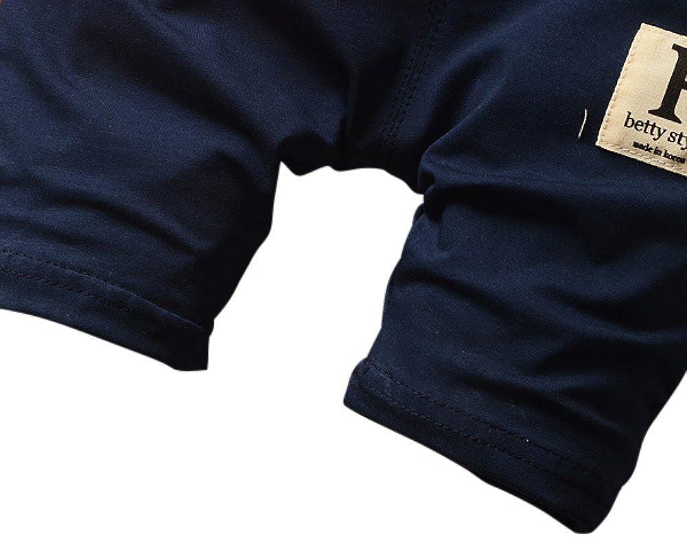 Shorts 2Pcs Set MiyaSudy Toddler Baby Boy Summer Outfits Beard Print Short Sleeve T-Shirts