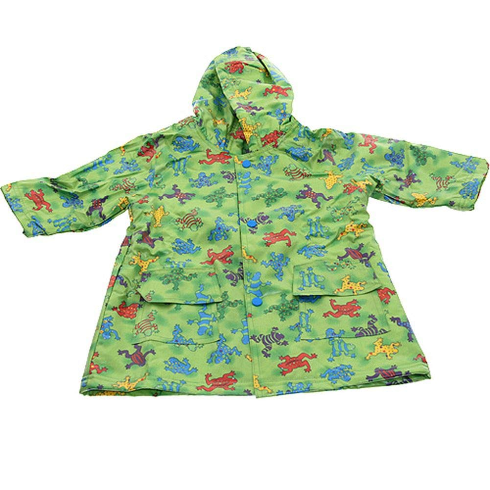 Pluie Pluie Boys Outerwear Green Frog Unlined Raincoat 4/5 by Pluie Pluie