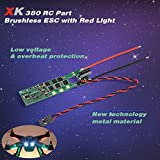XK X380-010 Brushless ESC Electronic Speed Controller w/ Red Light for XK X380