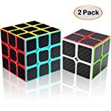 Syolee Speed Cube 2x2 3x3 Carbon Fiber Sticker Smooth Magic Cube 3D Puzzle Toys for Kids and Adults