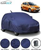 Carzex Car Body Cover Waterproof with Mirror & Antenna Pockets for Tata Tiago with Storage Bag (Full Sized, Full Bottom Elastic, Triple Stitched)