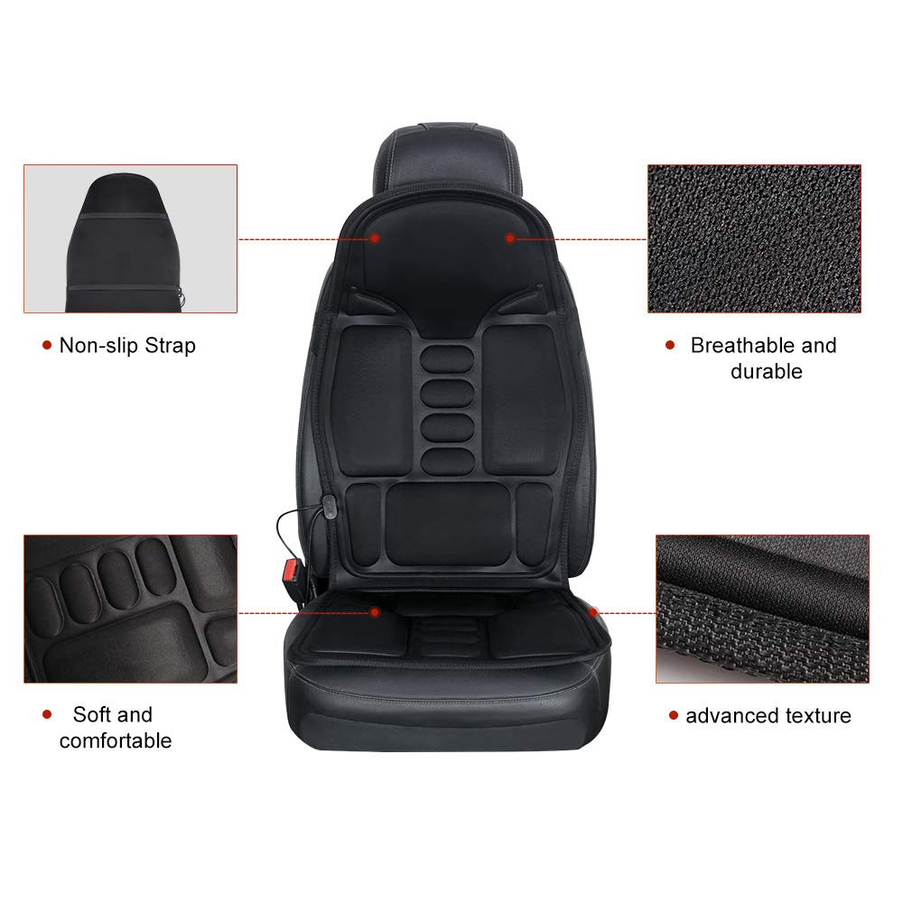 QUEES Heated Seat Cushion with Massage Function and Time Temperature Controller