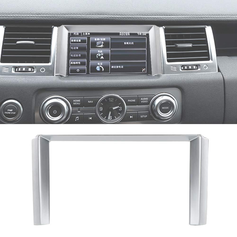 Hlyjoon Car Gps Navigation Frame Cover Trim Left Hand Drive Interior Centre Console Trim Cover Set Chrome plating Gps Navigation Trim Interior for Sport 2010 2011 2012 2013