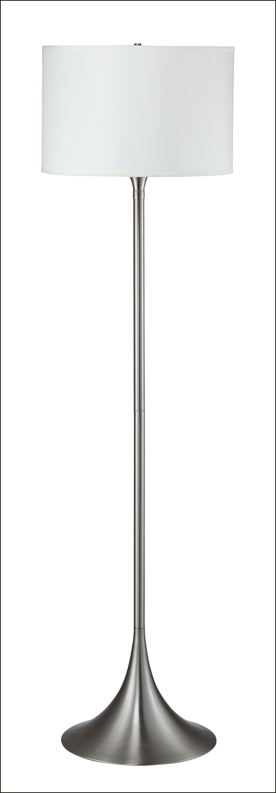Major-Q 6272 Brushed Steel 62''H Floor Lamp, Remote Control Outlet, Large, Silver by Major-Q (Image #1)