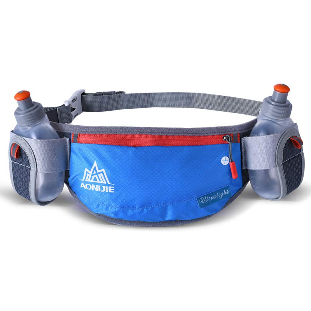 Fits 6.5 Inch Smartphones BuBu-Fu Close-Fitting Solidly Oversized Capacity Unisex Water Resistant Waist Pack Adjustable Running Fanny Pack Includes 2 Bottles