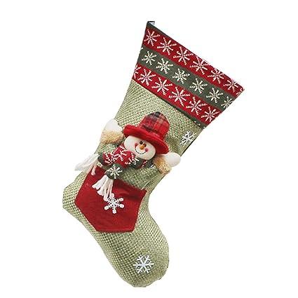 Qiao Nai(TM) Decoración Navidad Puerta Caramelo Calcetines de Estilo de Santa Claus Muñeco