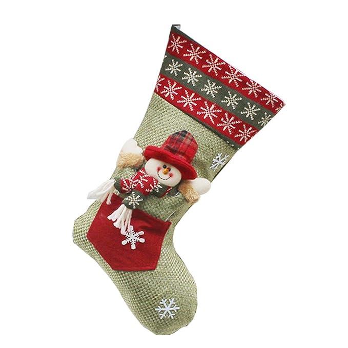 Qiao Nai(TM) Decoración Navidad Puerta Caramelo Calcetines de Estilo de Santa Claus Muñeco de Nieve (Muñeco de nieve): Amazon.es: Hogar