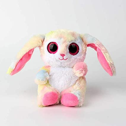 JEWH Beanie Boos Cartoon - Rabbit Plush Stuffed Baby Doll - Babies Sleeping Dolls - Birthday