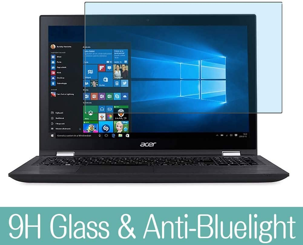 "Synvy Anti Blue Light Tempered Glass Screen Protector for Acer Spin 3 SP315-51 15.6"" Visible Area 9H Protective Screen Film Protectors (Not Full Coverage)"